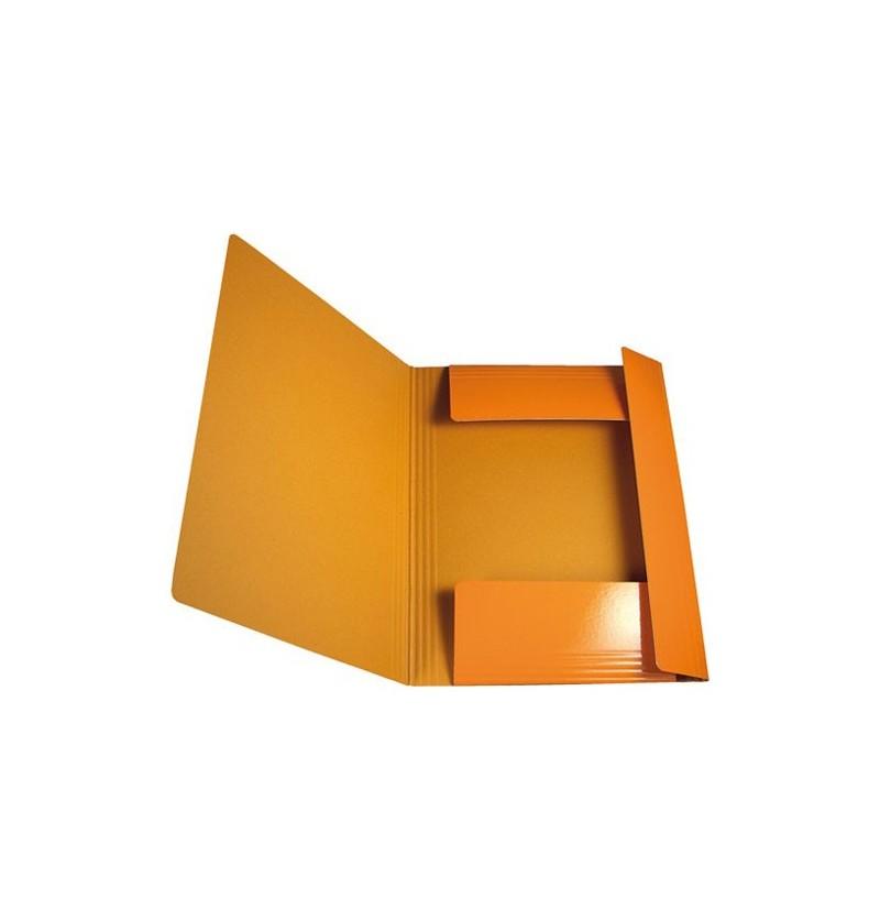 CARTELLA C/EL.TONDO IN PRESP 25X35 Arancione