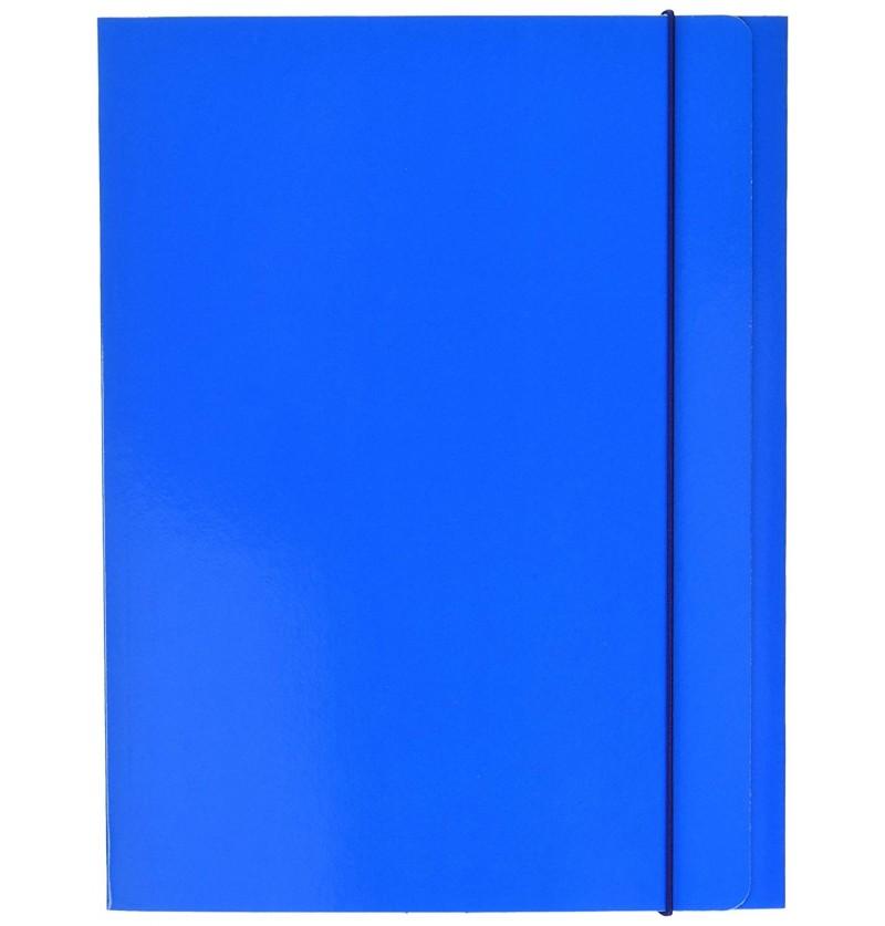 CARTELLA C/EL.TONDO IN PRESP 25X35 Azzurro