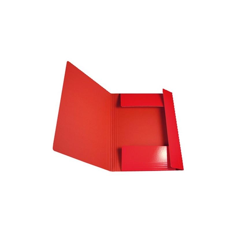 CARTELLA C/EL.TONDO IN PRESP 25X35 Rosso