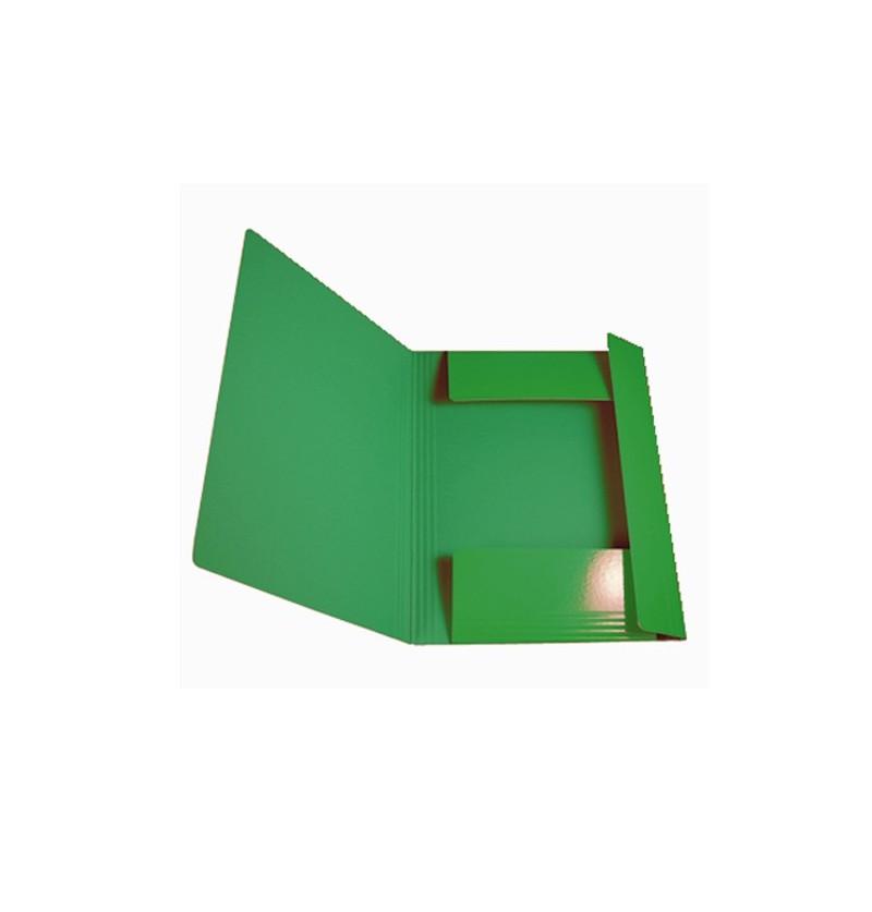 CARTELLA C/EL.TONDO IN PRESP 25X35 Verde