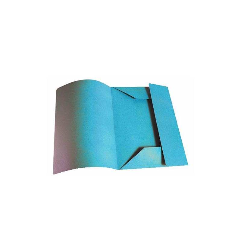 CARTELLA C/ALETTE C/ST. 25X33,5 GR200 Azzurro