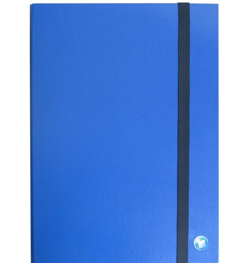 PORTAPROGETTI C/ELASTICO D03 25X35 Blu
