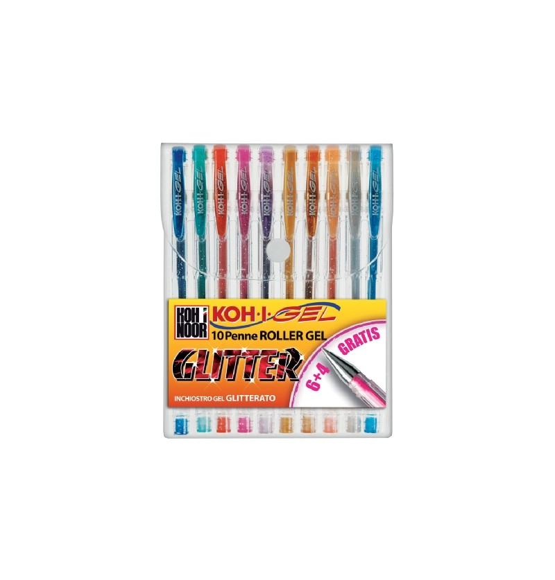 penna-koh-i-noor-gel-colorata-glitter-10-pz