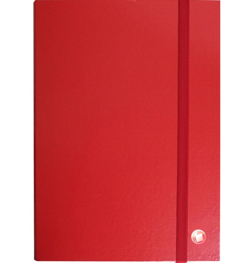 PORTAPROGETTI C/ELASTICO D08 25X35 Rosso