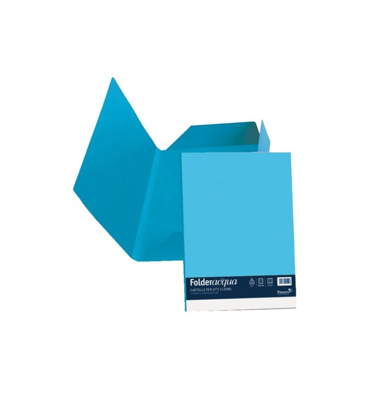 CARTELLA C/ ALETTE LUCE 24,5X34,5 GR200 Azzurro 55