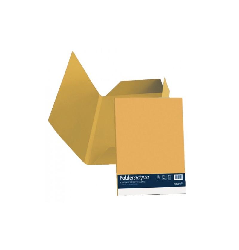 CARTELLA C/ ALETTE LUCE 24,5X34,5 GR200 Giallo oro 52