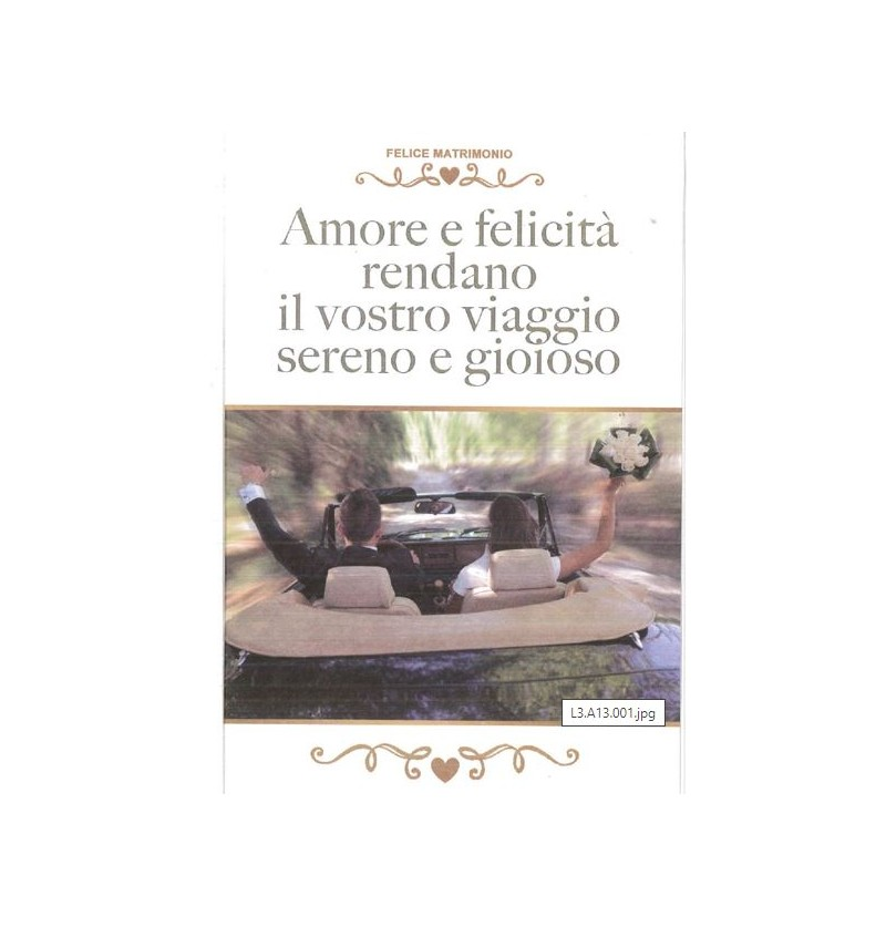 BIGLIETTI MATRIMONIO G618/1